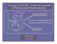 The Story of LIPITOR - A Peek into the World of Pharmaceutical Process Chemistry