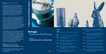 Schoggi_Ausstellungs Flyer - Museum der Kulturen