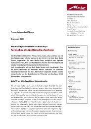 Fernseher als Multimedia-Zentrale - Metz
