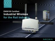 Industrial Wireless for the Rail Industry - Moxa
