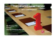 THE LEUCAENA NETWORK
