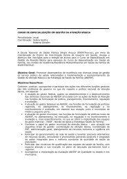 curso de especialização em gestão da atenção ... - Plataforma Siga