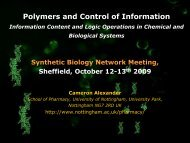 Polymers and Control of Information
