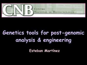 Genetics tools for post-genomic analysis & engineering