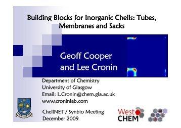 Geoff Cooper and Lee Cronin