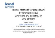 Formal methods for Synthetic Biology - are there any ... - SynBioNT