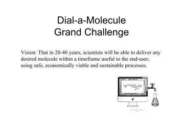 Dial-a-Molecule Grand Challenge