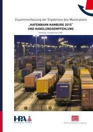 """""""HafenbaHn Hamburg 2015"""" und HandlungsempfeHlung"""
