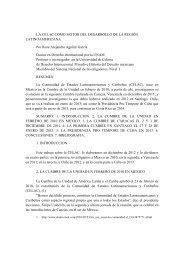 LA CELAC COMO MOTOR DEL DESARROLLO DE LA REGIÓN ...