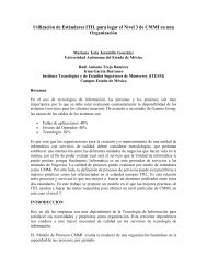Utilización de Estándares ITIL para logar el Nivel 3 de CMMI en una ...