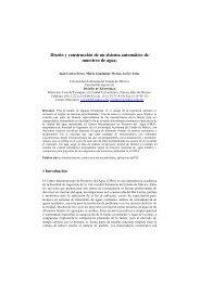 Diseño y construcción de un sistema automático de muestreo de agua