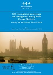 Fifth International Conference on Teenage and Young Adult Cancer Medicine