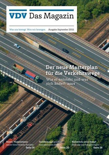 VDV Das Magazin Ausgabe September 2015