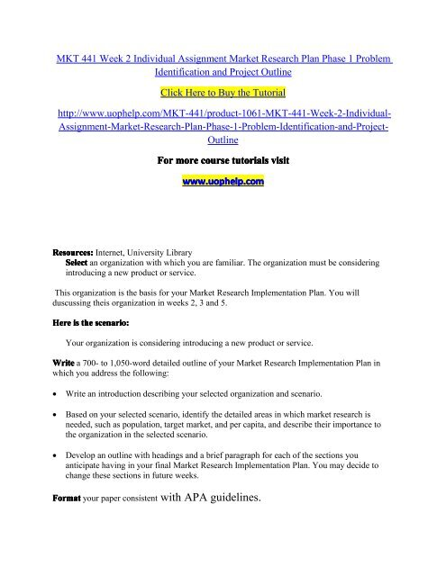 marketing research plan example pdf