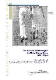 Gesetzliche Betreuungen im Main-Kinzig-Kreis 1992 - 2006
