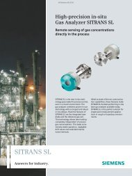 SITRANS SL Answers for industry. - Siemens