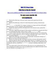 MKT 571 Week 3 Quiz/UOPHELP
