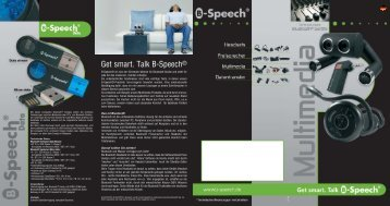 Get smart. Talk B-Speech®