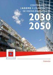 Contribution à l'élaboration de visions énergétiques 2030-2050