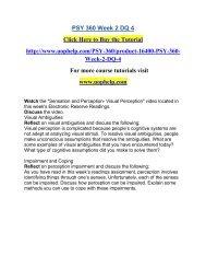 PSY 360 Week 2 DQ 4