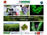 Symposium « Biocontrol of Grapevine Diseases » May 26-27 2011