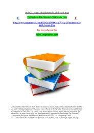 PED 212 Week 2 Fundamental Skill Lesson Plan
