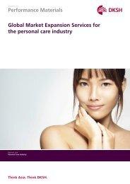 Personal Care & Cosmetics Brochure - DKSH.com