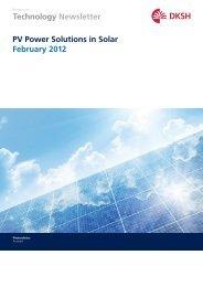 Technology Newsletter PV Power Solutions in Solar February 2012