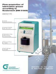 Flow-properties of lubrication grease according to Kesternich (DIN 51805)