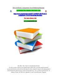 HTT 210 Week 2 Assignment Travel Marketing Brochure/snaptutorial