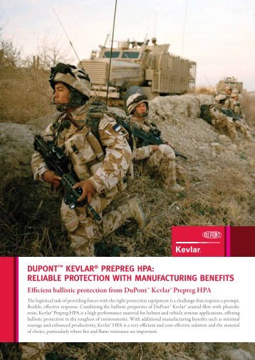 dupont™ kevlar® prepreg hpa: reliable protection with ...