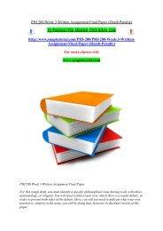 PHI 200 Week 3 Written Assignment Final Paper (Death Penalty)