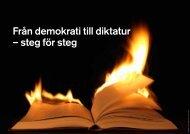 Från demokrati till diktatur – steg för steg