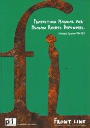 PROTECTION MANUAL HUMAN RIGHTS DEFENDERS