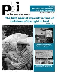 The fight against impunity in face of violations of the right to food
