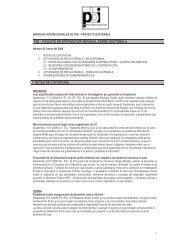 PIM – PAQUETE DE INFORMACIÓN MENSUAL SOBRE GUATEMALA 1 NOTAS DE COYUNTURA