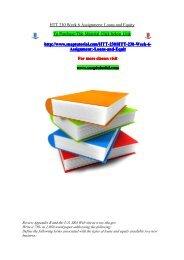 HTT 230 Week 6 Assignment Loans and Equity/snaptutorial