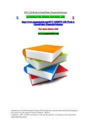 HTT 230 Week 6 CheckPoint Financial Schemes/snaptutorial