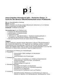 Deutscher Zweig e. V. sucht für den Bereich ... - PBI