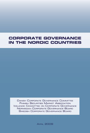 Corporate GovernanCe in the nordiC Countries