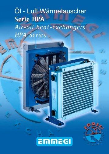 EMMEGI Öl - Luft Wärmetauscher Serie HPA Air ... - EMMEGI GmbH