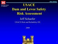 USACE Dam and Levee Safety Risk Assessment