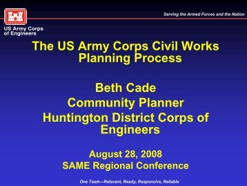 The US Army Corps Civil Works Planning Process Beth Cade ...