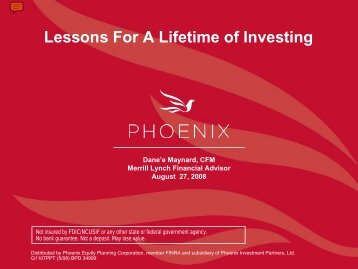 Lessons For for A a Lifetime of of Investing Investing