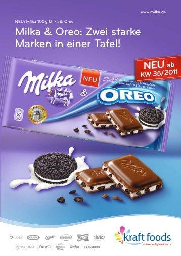 Milka & Oreo: Zwei starke Marken in einer Tafel!