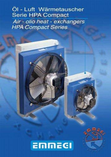 Scambiatori Aria-Olio Serie HPA Compact - EMMEGI GmbH