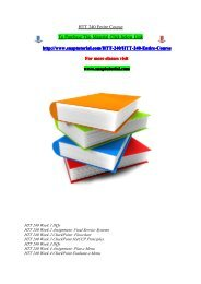 HTT 240 Entire Course/snaptutorial