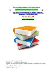HTT 240 Week 2 Assignment Food Service Systems/snaptutorial