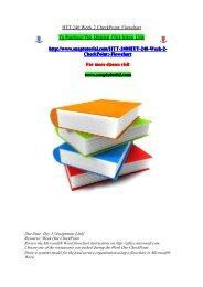 HTT 240 Week 2 CheckPoint Flowchart/snaptutorial