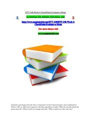 HTT 240 Week 4 CheckPoint Evaluate a Menu/snaptutorial